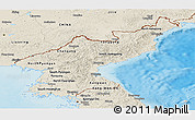 Shaded Relief Panoramic Map of North Korea