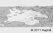 Gray Panoramic Map of Pyongyang