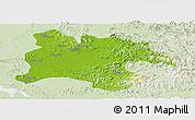 Physical Panoramic Map of Pyongyang, lighten