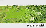 Physical Panoramic Map of Pyongyang, satellite outside