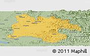 Savanna Style Panoramic Map of Pyongyang