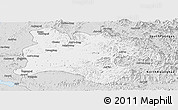 Silver Style Panoramic Map of Pyongyang