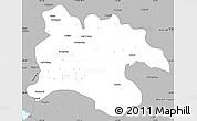 Gray Simple Map of Pyongyang