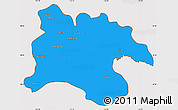 Political Simple Map of Pyongyang, cropped outside