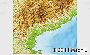 Physical 3D Map of South Hamgyong
