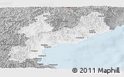 Gray Panoramic Map of South Hamgyong