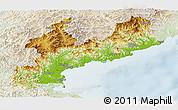 Physical Panoramic Map of South Hamgyong, lighten