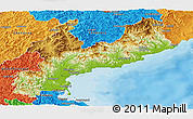 Physical Panoramic Map of South Hamgyong, political outside