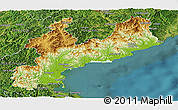 Physical Panoramic Map of South Hamgyong, satellite outside