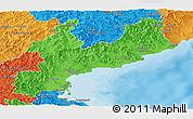 Political Panoramic Map of South Hamgyong