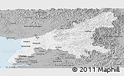 Gray Panoramic Map of South Pyongan