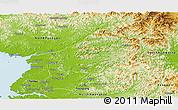 Physical Panoramic Map of South Pyongan