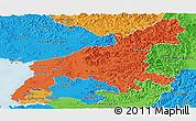Political Panoramic Map of South Pyongan