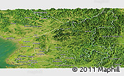 Satellite Panoramic Map of South Pyongan