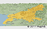 Savanna Style Panoramic Map of South Pyongan