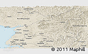 Shaded Relief Panoramic Map of South Pyongan
