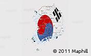 Flag 3D Map of South Korea