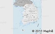 Gray 3D Map of South Korea