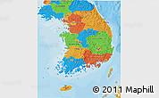 Political 3D Map of South Korea