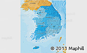 Political Shades 3D Map of South Korea