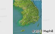 Satellite 3D Map of South Korea