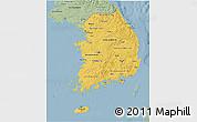 Savanna Style 3D Map of South Korea