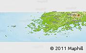 Physical Panoramic Map of Chollanam-Do