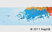 Political Panoramic Map of Chollanam-Do
