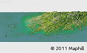 Satellite Panoramic Map of Chollanam-Do