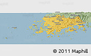 Savanna Style Panoramic Map of Chollanam-Do