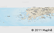 Shaded Relief Panoramic Map of Chollanam-Do