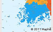 Political Simple Map of Chollanam-Do