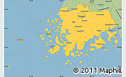 Savanna Style Simple Map of Chollanam-Do