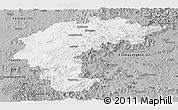 Gray Panoramic Map of Chungchongbuk-Do