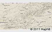 Shaded Relief Panoramic Map of Chungchongbuk-Do