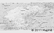 Silver Style Panoramic Map of Chungchongbuk-Do