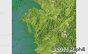 Satellite Map of Chungchongnam-Do