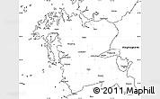 Blank Simple Map of Chungchongnam-Do