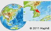 Physical Location Map of Kang-Won-Do