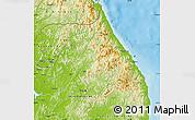 Physical Map of Kang-Won-Do