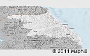 Gray Panoramic Map of Kang-Won-Do
