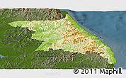 Physical Panoramic Map of Kang-Won-Do, darken