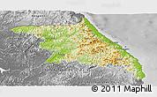 Physical Panoramic Map of Kang-Won-Do, desaturated