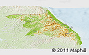 Physical Panoramic Map of Kang-Won-Do, lighten