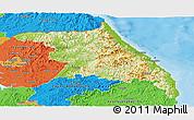 Physical Panoramic Map of Kang-Won-Do, political outside