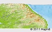 Physical Panoramic Map of Kang-Won-Do