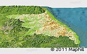 Physical Panoramic Map of Kang-Won-Do, satellite outside