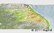Physical Panoramic Map of Kang-Won-Do, semi-desaturated