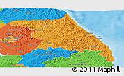 Political Panoramic Map of Kang-Won-Do