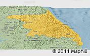 Savanna Style Panoramic Map of Kang-Won-Do